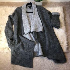 Nanette / Cozy Long Grey Cardigan